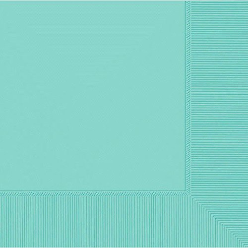 Amscan 3-Ply Robin's Egg Blue Luncheon Napkins, 50 Ct.   Party Tableware -
