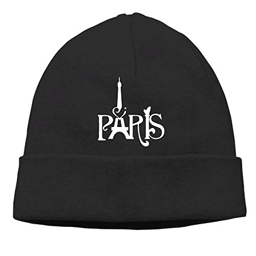 SEVENJIA Pink French Paris Eiffel Tower Soft Knit Beanie Hat Warm Thick Winter Hat For Men Pink French Paris Eiffel Tower Winter Warm Cap - French Hood Hat