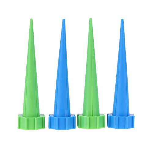 Nuobo 4Pcs Automatic Watering Irrigation Houseplant Spikes Garden Cone Watering Spike Plant Potted Flower Waterers Bottle Irrigation by Nuobo