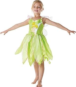Rubies I-881868L - Disfraz de niña Campanilla Peter Pan, talla L ...
