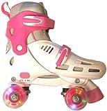 SFR Lightning Storm White/Pink Quad Roller Skates