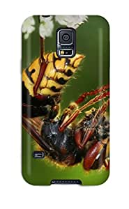 BenjaminHrez Case Cover Protector Specially Made For Galaxy S5 Macro Shot Of A Bee