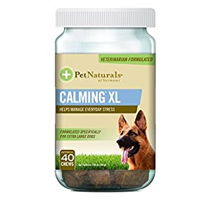 Pet Naturals of Vermont – Calming XL, Behavior Support Supplement for Dogs 75 LBS and Up, 40 Bite-Sized Chews