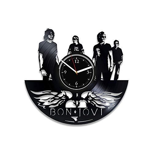 RainbowClocks Vinyl Record Clock Bon Jovi Birthday Gift Bon Jovi Art Bon Jovi Clock Bon Jovi Xmas Gift Bon Jovi Vinyl Wall Clock Bon Jovi Gift For Man Bon Jovi Wall Clock Modern ()