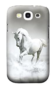 S0932 White Horse Case Cover for Samsung Galaxy S3 by lolosakes
