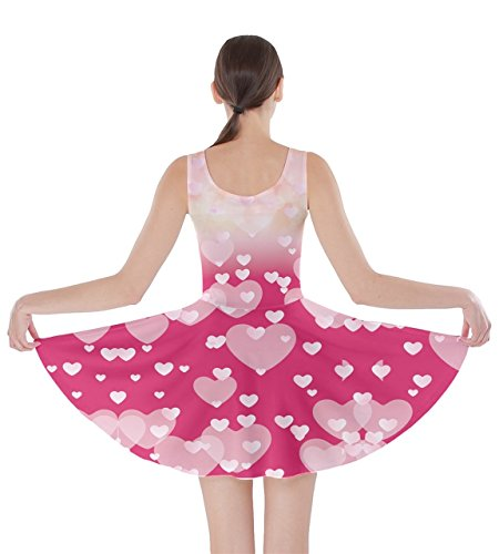 Heart CowCow Radient XS Skater Cute Day Pink Dress Pink 5XL Womens Valentines Love Hearts xCqxZUaw7