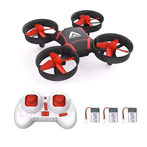 Mini Drone – Safe Drone for Kids & Beginners, Easy Remote Control Drone, One Key Takeoff/Auto-pairing/Altitude Hold…