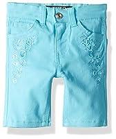 XOXO Girls' Toddler Stretch Twill Bermuda Short, Bluefish, 2T