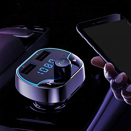T24 Car FM Transmitter Dual USB Fast Charging Voice Navigation Car Hands-Free Call Bluetooth MP3 Player -