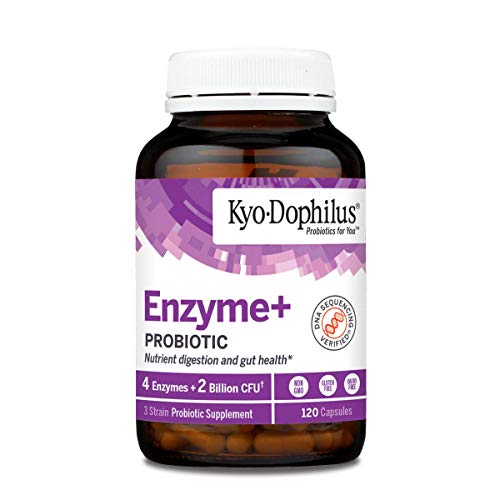 Kyo-Dophilus Probiotic Plus Enzymes, 120 Capsules Soy & Gluten Free, Digestive Health Support...