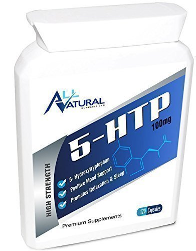 ALL NATURAL 5-HTP ONLY £12.95 Excellent Value Premium Quality 120 x 100mg capsules from Griffonia seed powder. FREE UK DELIVERY