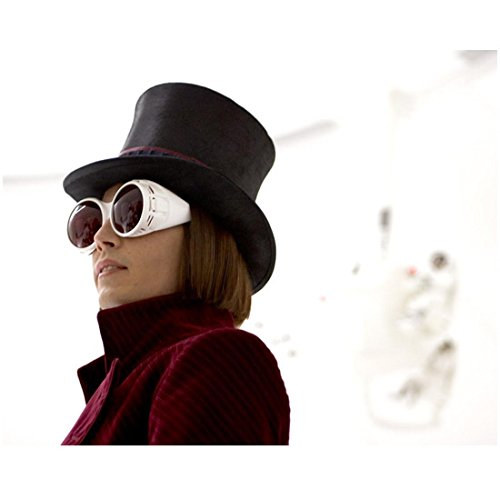 Johnny Depp 8x10 Photo Charlie and the Chocolate Factory Huge White Sunglasses Almost Profile Pose 2 - Factory Sunglass