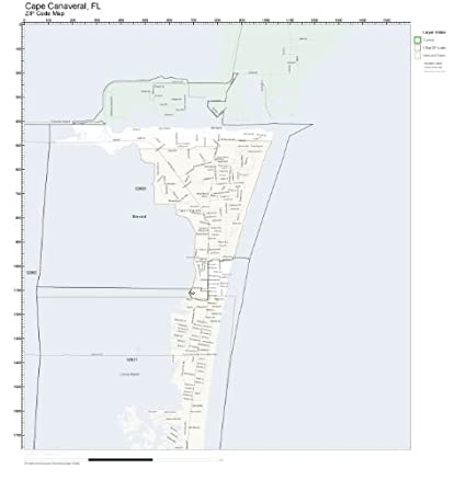 Amazon.com: ZIP Code Wall Map of Cape Canaveral, FL ZIP Code ... on map showing port canaveral florida, map showing cape canaveral, hotel cape canaveral fl, map florida fl, map sarasota fl, weather cape canaveral fl, map of cape canaveral area,