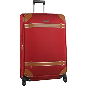 Anne Klein Luggage Vintage Edition 28 Inch Expandable Spinner, Red, One Size