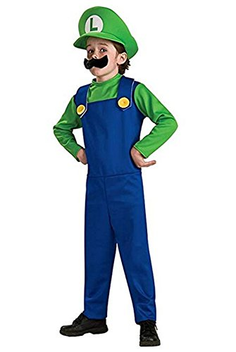 Funny Cosplay Costume Super Mario Brothers Mario Luigi Costume Fancy Dress Up Party Costume Cute Costume Children Green -