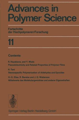 Advances in Polymer Science: Fortschritte der Hochpolymeren-Forschung (Volume 11) (English and German Edition)