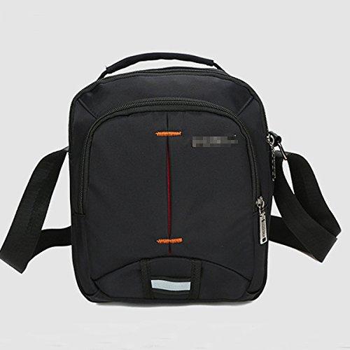 La Simplicidad De Moda Casual Salvaje Elegante Bolsa Cuadrado Simple Crossbody Pechera Saco Bolsita Para El Hombre Multicolor Black