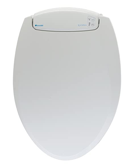 toilet seat. Brondell L60 EW LumaWarm Heated Nightlight Elongated Toilet Seat  White