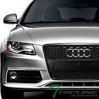 Topline Autopart Black RS-Honeycomb Mesh Front Hood...