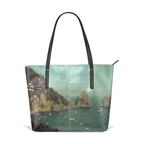 Amalphi Coast, Capri, Italy Beach Tote Bags Travel Totes Bag Toy Tote Shopping Tote Shoulder Hand Bag For Women and Girls