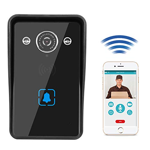 Video Doorbell, Doorbell Camera with Motion Detection,Night Vision and 2-Way Audio,Support iOS and Android(Door Camera,Battery Power,IP65 Waterproof) Security System for Home
