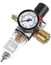 Luchtregelaar 1/4, 1/4 Luchtfilterregelaar Compressor Vochtval Waterolie Separator, Luchtdrukregelaar Olie Watersmeermiddel voor Compressor en Luchtgereedschap