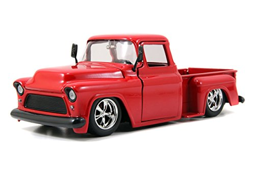 Jada Bigtime Kustoms 1955 Chevy Stepside Pickup Truck 1:24 Scale (Red) ()