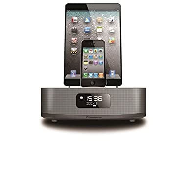 Chelsea Apple Certified Dual-Docking 30-Pin and Lightning Ports Speaker with Bluetooth for Smartphones