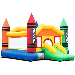 Amazon.com: GOFLAME castillo inflable de rebote, casa de ...