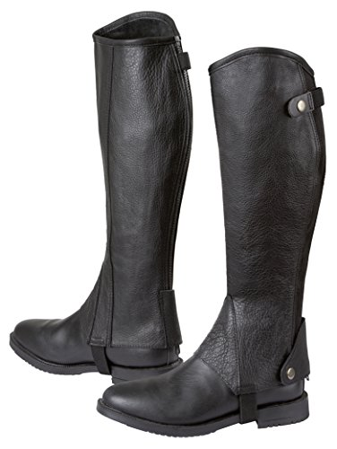 Covalliero Minichaps Elasto Leder Elastikeinsatz, schwarz, M, 324031