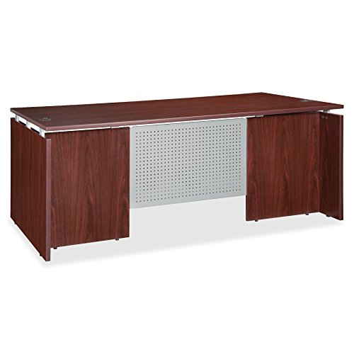 Lorell LLR68686 Executive Desk, Mahogany -