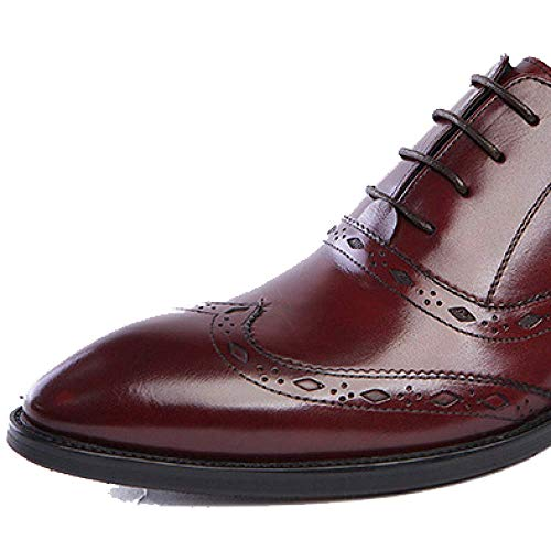 Moda Sposa European in da Winered British E Trend Comfort Version Uomo Scarpe Business Scarpe Style Pelle da Pointed xHww6