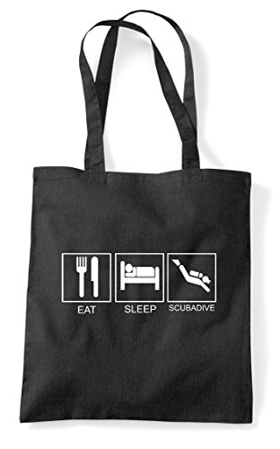 Tiles Activity Scubadive Tote Funny Hobby Black Eat Sleep Bag Shopper wXx7BpwE