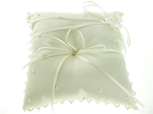 Firefly Imports Homeford Wedding Ring Bearer Pillow, Ivory, 7-Inch
