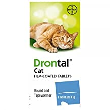 Bayer Drontal cat Wormer -1 year supply (4 tabs)