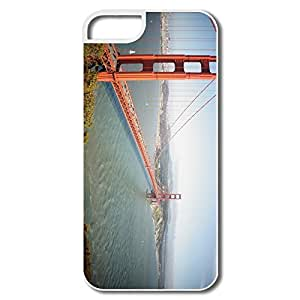 IPhone 5 5S Cases, San Francisco CA Bridge White Cases For IPhone 5/5S