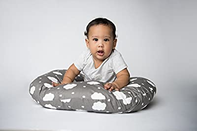 Organic Soft cotton Baby Nursing pillow with cover bundle, Breastfeeding Pillow And Positioner For Babies, Nursing Baby Lounger