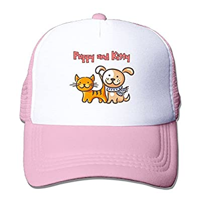 Cat-dog-cartoon Flat Bill Snapback Hats Embroidered Women Men Adjustable Baseball Caps