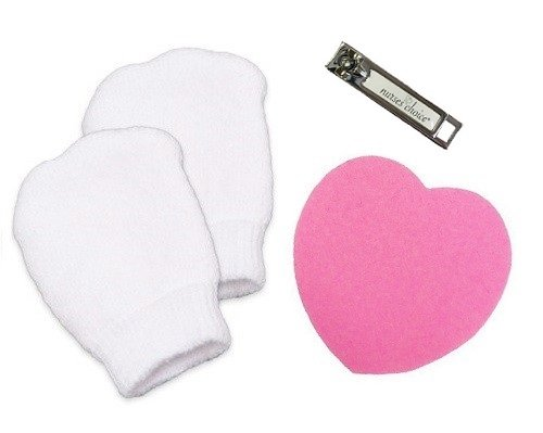 Newborn Baby Nail-Care Safety Kit: Includes Infant Mittens, Nail Clipper, Nail File by Nurses Choice from Nurses Choice