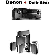 Denon AVR-X1500H 7.2 CH 80W 4K Ultra HD WiFi/Bluetooth AV Receiver + Definitive Technology ProCinema 600 5.1 Home Theater Speaker System Bundle