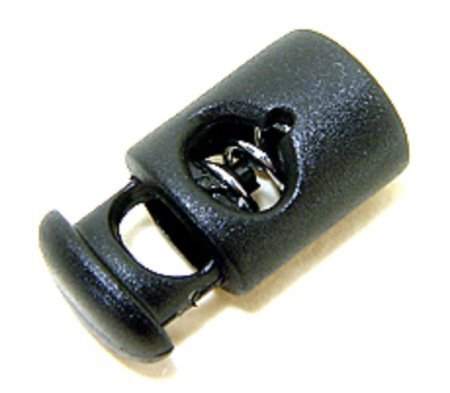 FMS Ravenox Toggle Stopper Cord Locks | Mini Cord Lock | Spring Stop Toggle Stoppers (1000 Pack)(Black) by FMS (Image #1)