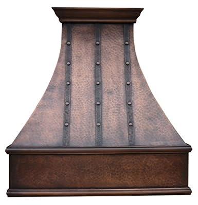 """Copper Best H7 362139LT Copper Kitchen Range Hood with Fan Wall Mount 36"""""""