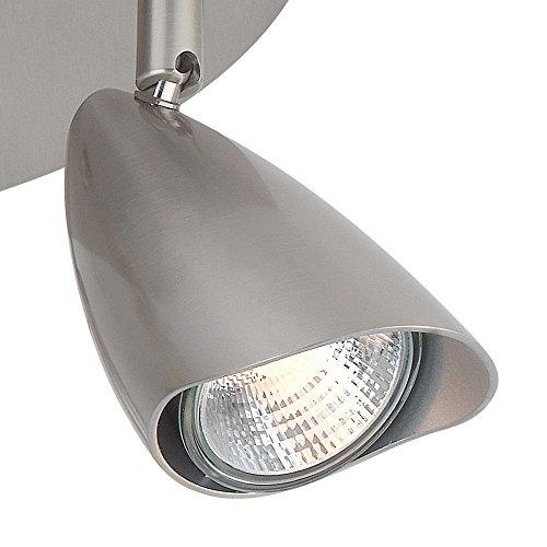 Globe Electric Grayson 3-Light Canopy Track Lighting Kit, Brushed Steel Finish, 58929 by Globe Electric (Image #2)