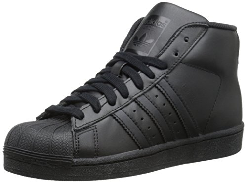 adidas Originals Pro Model J Fashion Sneaker (Big Kid), Black/Black/Black, 6 M US Big Kid (Pro Leather Sneaker)