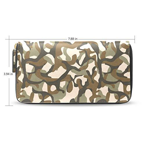 Women Army Camo Usa Leather...