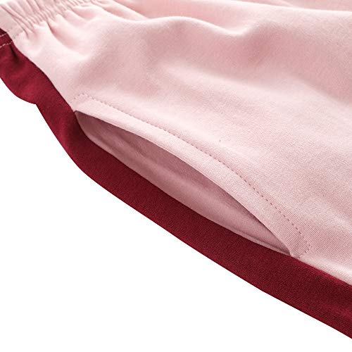 Semplice Rosa lunghe trasformati inverno per la e vestiti autunno XLNNSY donna pigiama da a casa cotone in pantaloni maniche in Fxfqdw
