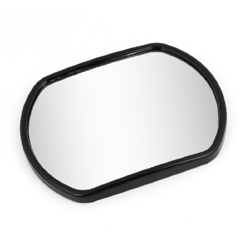 DealMux 135mm x 104mm Black Plastic Frame Rear View Blind Spot Mirror for Car