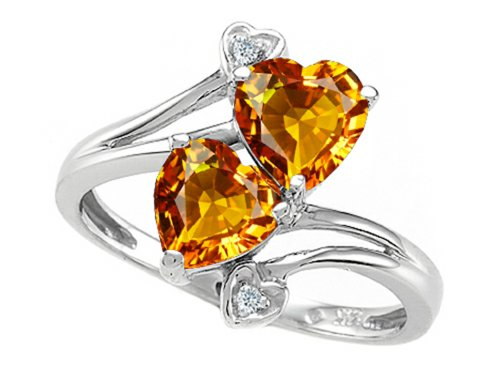 Genuine November Birthstone Heart Ring - 9