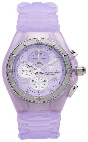 TechnoMarine Unisex 108008 Cruise Chrono Steel-Plated Lilac Polyurethane Watch