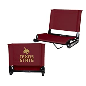 Texas State Stadium Chair Maroon 'Texas State w/ Bobcat Stacked' by CollegeFanGear